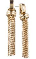 Anne Klein Tassel Drop Earrings - Lyst