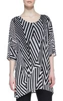 Caroline Rose Divided Lines Knit Tunic - Lyst