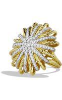 David Yurman Starburst Ring with Diamonds in Gold - Lyst