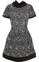 Oscar de la Renta Camellia Sequined Silk Mini Dress - Lyst