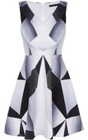 Karen Millen Graphic Print Cotton Dress - Lyst