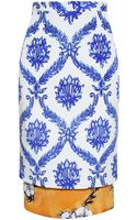 Tata Naka Double Layer Printed Silk Skirt - Lyst