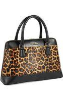 Calvin Klein Leopard Print Bowler Bag - Lyst