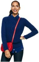C. Wonder Mixed Stitch Open Crewneck Raglan Sweater - Lyst