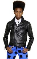 Kenzo Velvet Logo On Nappa Leather Jacket - Lyst