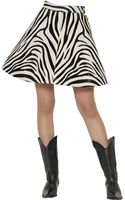 Fausto Puglisi Zebra Printed Ponyskin Skirt - Lyst