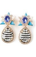 Shourouk Galaxy Clip-on Earrings - Lyst