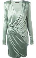 Versace Gathered Drape Dress - Lyst