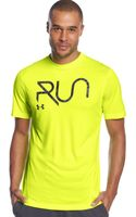 Under Armour Run Tshirt - Lyst
