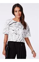 Missguided Janan Marble Print Shell Top - Lyst
