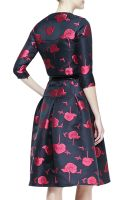 Carolina Herrera Embroidered Fullskirt Buttonup Dress - Lyst