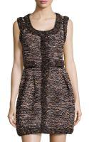 M Missoni Tweed Pleated Sleeveless Dress - Lyst