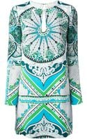 Emilio Pucci Printed Dress - Lyst