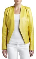 Bagatelle Overlapped Sculpted Front Leather Jacket - Lyst