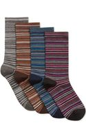 Hue Glitter Multi Stripe Sock - Lyst