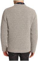 YMC Grey Chunky Knit Sweater - Lyst