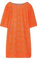 Matthew Williamson Neon Embroidered Tulle Dress - Lyst