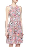 Rebecca Taylor Floral Print Fitandflare Dress - Lyst