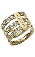 Michael Kors Pavéembellished Goldtone Ring - Lyst