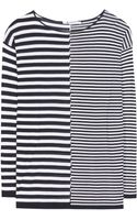 T By Alexander Wang Cottonblend Striped Top - Lyst