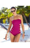Kenneth Cole Reaction Bandeau Cutout One-piece Swimsuit - Lyst