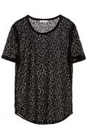 Equipment Riley Tee with Contrast - Lyst