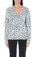 MICHAEL Michael Kors Leopard Print Knitted Jumper - Lyst