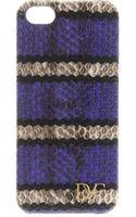 Diane Von Furstenberg Striped Snakeskin Iphone 5 Case - Lyst