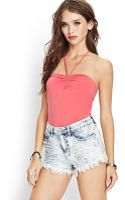 Forever 21 Selftie Halter Top - Lyst