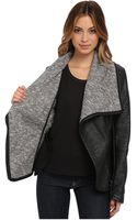 Blank Black Vegan Leatherjacket W Grey Shawl Collar in Stress Eater - Lyst