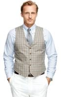 Brooks Brothers Check Vest - Lyst