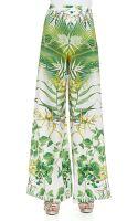 Alice + Olivia Super Flare Floral Print Pants - Lyst