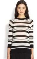 A.L.C. Theo Striped Cotton Sweater - Lyst