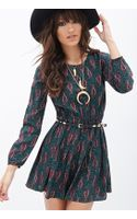 Forever 21 Paisley Print Fit  Flare Dress - Lyst