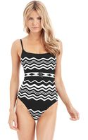 La Blanca In The Groove Belted Swimsuit - Lyst