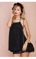 Nasty Gal If You Pleat Halter Top - Black - Lyst