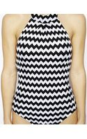 Seafolly Mod Club High Neck Maillot Swimsuit - Lyst
