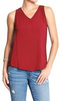 Old Navy Back-cutout Sleeveless Tops - Lyst