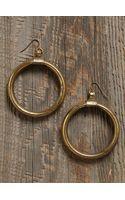 Free People Vintage Brass Hoop Earrings - Lyst