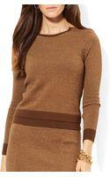 Ralph Lauren Lauren Jacquard Knit Sweater - Lyst