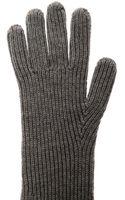 Stella McCartney Long Ribbedknit Wool Gloves - Lyst