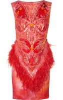 Matthew Williamson Swarovski Crystal Embellished Printed Silk Dress - Lyst