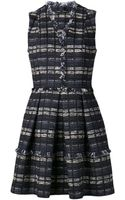 Proenza Schouler Tweed Suiting Flared Dress - Lyst