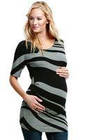 Jessica Simpson Maternity Short-sleeve Striped Tunic - Lyst