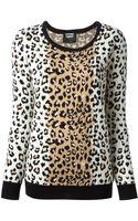 Markus Lupfer Leopard Pattern Sweater - Lyst