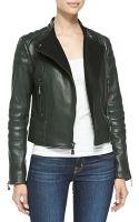 Dl2 By Dawn Levy Kristine Lambskin Leather Moto Coat - Lyst