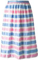 Courreges Vintage Striped Full Skirt - Lyst