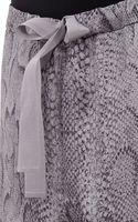 Nina Ricci Pythonprint Silk Pajama Pants - Lyst