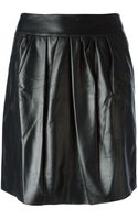Nina Ricci Pleated Front Mini Skirt - Lyst