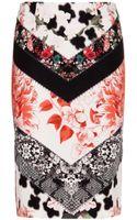 Roberto Cavalli Printed Stretch Pencil Skirt - Lyst